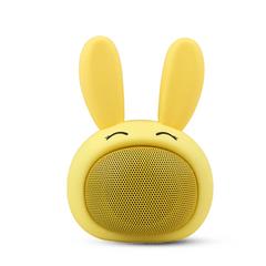 Caixa-de-som-Bluetooth-coelho-de-alta-frequencia-Fun---Amarelo