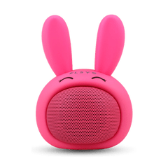 Caixa-de-som-Bluetooth-coelho-de-alta-frequencia-Fun---Rosa