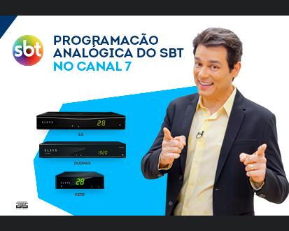 Aproveite o SBT na programação analógica