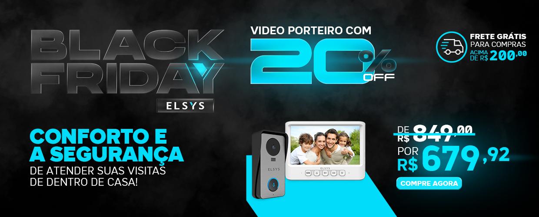 BLACK FRIDAY ELSYS - VIDEOPORTEIRO CABEADO
